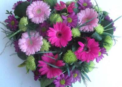 Bella-Poppy-Flower-Design-Chichester-Flowers-Florist-Wedding-Flowers-Funeral Flowers-Dried-Flowers-Pink-Funeral-Flowers-funeral flowers-open-heart-gerberas