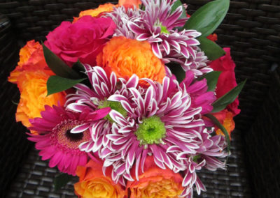 Bella Poppy Flower Design-Chichester-Flowers-Florist-Weddings-Funerals-Bouquets- Mixed orange and pink Bridal bouquet