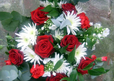Bella Poppy Flower Design-Chichester-Flowers-Florist-Weddings-Funerals-red and white Bouquet