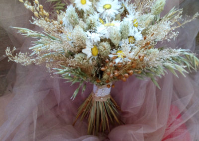 grasses and white daisies in a dried arrangment - Dried Flowers