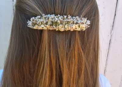 Barrette clop of dried flowers