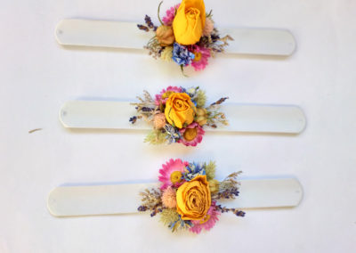 Corsage of yellow roses - dried flowers