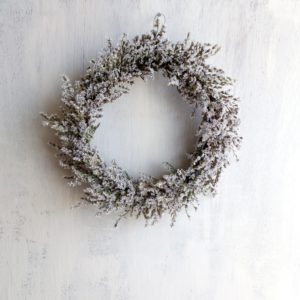 White Statice Flower Wreath - Dried Flowers