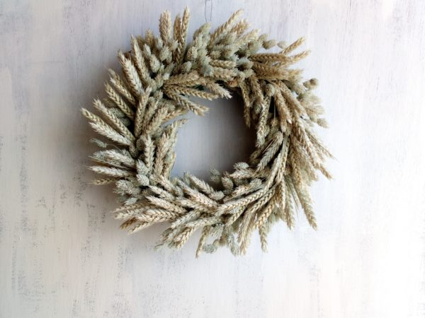 Wheat Field Wreath - Dried Flowers