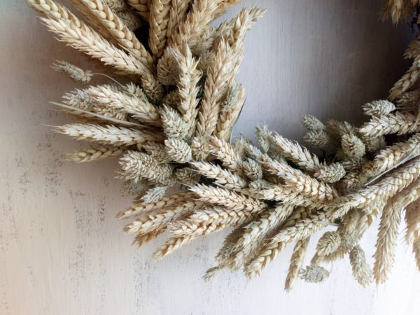 Wheat Field Wreath - Close up