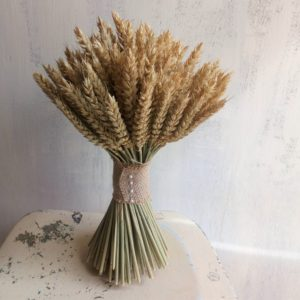 dried wheat wedding bouquet - dried flowers
