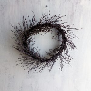 Dried Will circular wreath