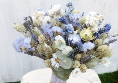 dried flower bouquet blues lavender limonium rhodante full