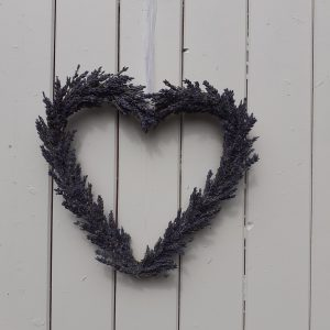dried lavender heart